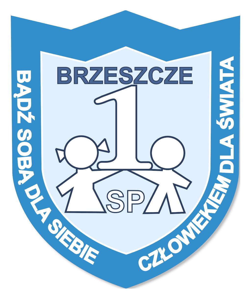 Logo szkoły podstawowej nr 1 w Brzeszczach