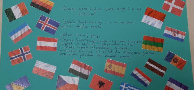 Projekty uczniów z okazji Europejskiego Dnia Języków Obcych