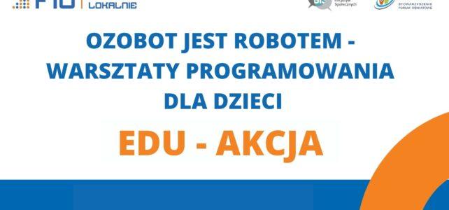 Projekt EDU – AKCJA – warsztaty programowania dla dzieci