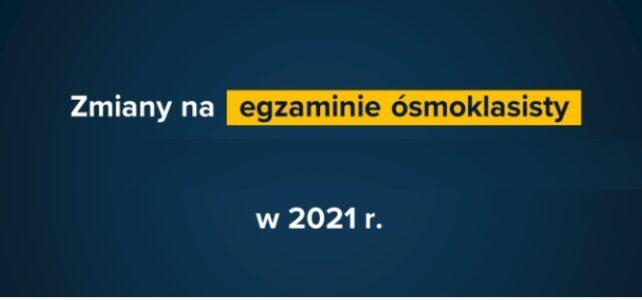 Nowe rozporządzenie ws. egzaminu ósmoklasisty