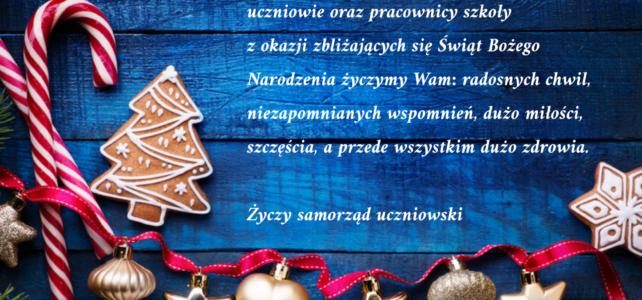 Świąteczne życzenia od Sejmiku Jedynki