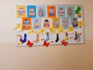 """""""Świąteczne pisanki""""- z najlepszymi życzeniami na Wielkanoc , prace plastyczne uczniów."""